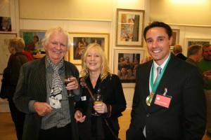 Ken Howard RA, Janette Kerr PRWA Hon RA and Me